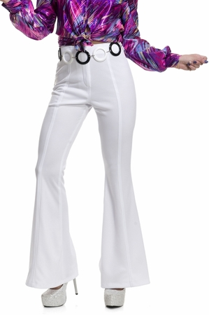 Adult Women's White 70's Disco Pants