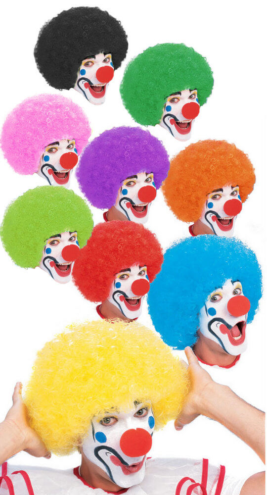 Afro Clown Wig More Colors Candy Apple Costumes Kids