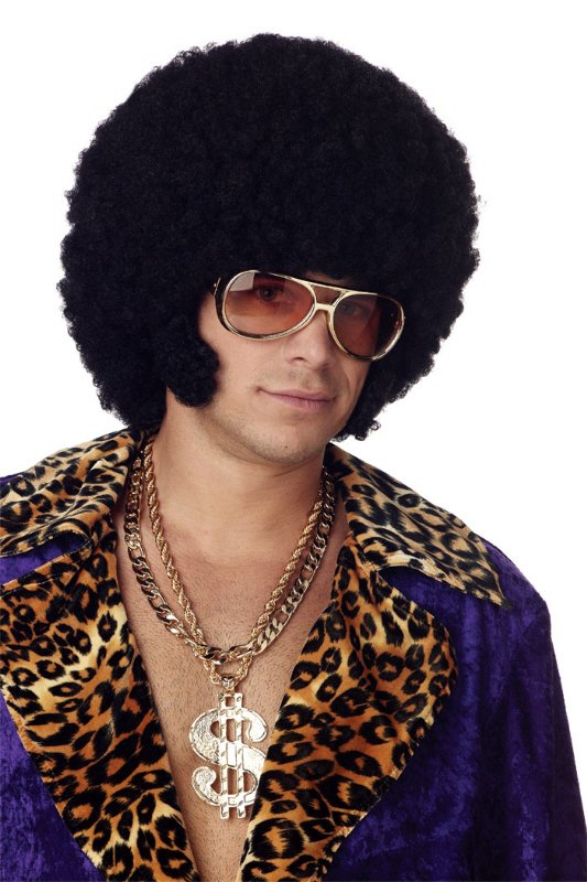 Black Afro Chops Wig Candy Apple Costumes Men S 70 S
