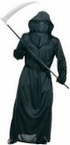 Black Mesh Face Robe Costume