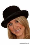 Black Permafelt Bowler Hat - Adult or Child