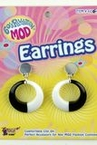 Black/White 60's Mod Earrings