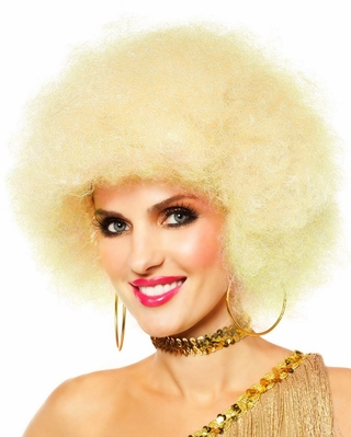 Blonde Dancing Queen Afro Wig