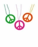 Bright Color Peace Sign Necklace