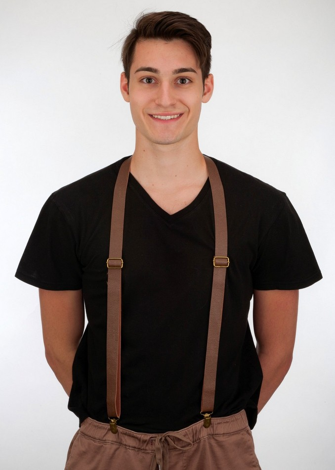 Brown Vinyl Suspenders Candy Apple Costumes 20 S