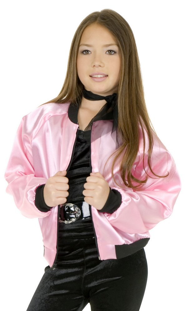 Child S 50 S Pink Satin Jacket Candy Apple Costumes