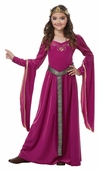 Child's Berry Medieval Princess Costume