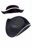Child's Black Colonial Tricorne Hat