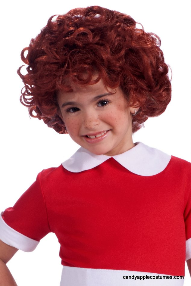 Child s little orphan annie wig candy apple costumes children s 20