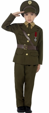 Child S Wwii Army Officer Costume 1940s Costumes 40 S