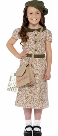 Child's WWII Evacuee Girl Costume