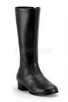 Child Size Black or Brown Knee High Captain Boots