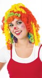 Cutie Pie Rainbow Clown Wig