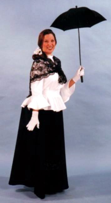 Deluxe Adult English Nanny Victorian Costume Candy Apple