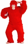 Deluxe Adult Red Gorilla Costume