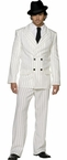 Deluxe Adult White Pinstriped Gangster Suit Costume