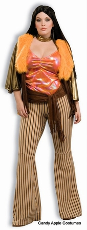 Deluxe Plus Size 60's Babe Costume