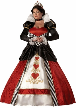 Deluxe Queen of Hearts Costume Plus Size