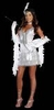 Dreamgirl Flap Happy Adult Silver Flapper Costume