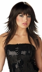 Feathered and Flirty Brown Wig