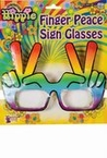 Hippie Hand Rainbow Peace Sign Glasses