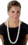 Jumbo Faux Pearl Necklace