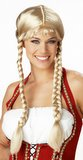 Long Blonde Pigtail Braids Wig