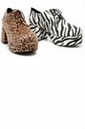 "Men's 3"" Heel Platform Animal Print Pimp Shoes"