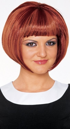 Mod Girl Wig - Red or Black