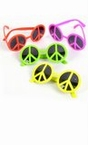 Neon Peace Sign Sunglasses