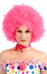 Pink Curly Afro Wig