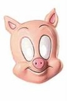 Plastic Cartoon Pig Mask