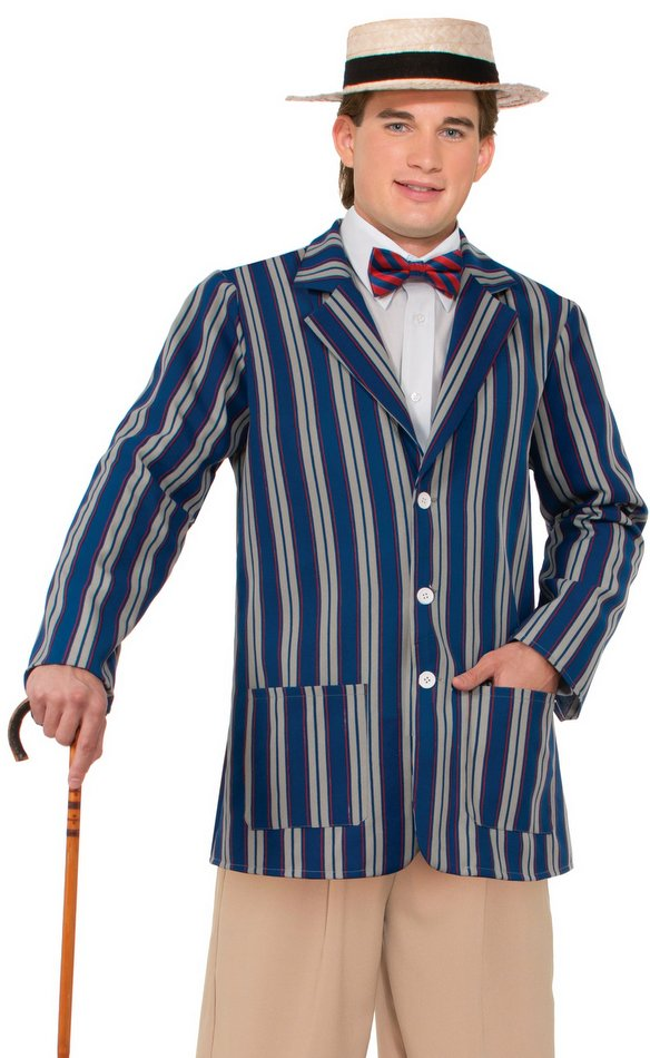 Plus Size Adult 1920s Mens Boater Jacket Costume Candy Apple
