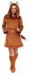 Plus Size Adult Foxy Animal Lady Costume