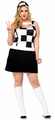 Plus Size Women's Trippy Trixie 60s Mod Costume