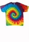 Plus Size Reactive Rainbow Tie Dye Tee Shirt