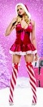 Sexy Pom Pom Hooded Miss Santa Costume