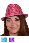 Striped Sequin Fedora - More Colors