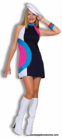 Teen Size Mod Doll Go Go Costume