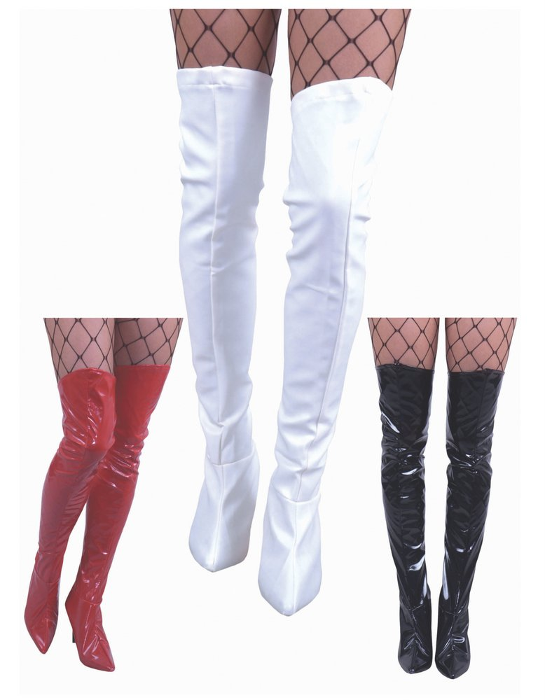Thigh High Vinyl Fabric Boot Tops - Candy Apple Costumes - Bad-Ass ...