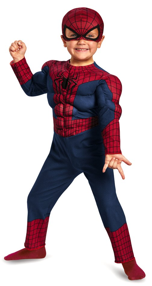 Toddler Muscle Chest Spider Man Costume Candy Apple