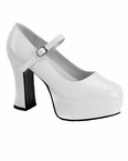 "White 4"" Platform Mary Jane Shoes"