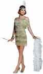 Women's Champagne Fringed Flapper Costume