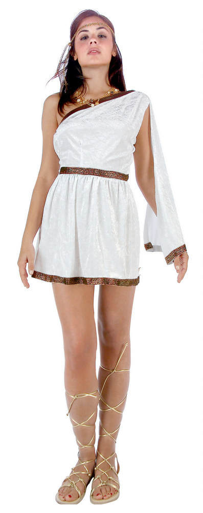 Women&-39-s Short White Toga Costume - Candy Apple Costumes - Angel ...