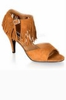 Women's Tan Fringed Indian Sandals