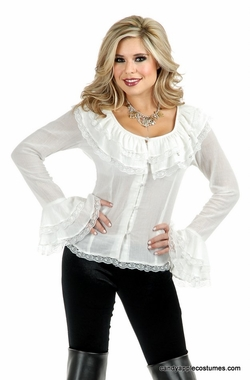 Womens White Pirate Blouse 65