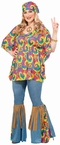 Women's Plus Size Hippie Chick Costume