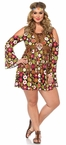 Women's Plus Size Starflower Hippie Costume