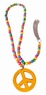 Wood Bead Peace Sign Necklace