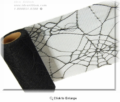 """6""""x 30FT  Spider Web Net Tulle For TuTu<br> Halloween Goth haunted<br> Costume Fabric Supply"""